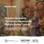 Muestra nacional de pintura en el Museo de la Facultad de Arte y Diseño
