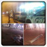 Un vehículo colisionó dos pilares de metal y un farol de luz en el centro Cívico, se dio a la fuga y su conductor fue detenido