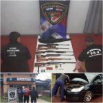 Tras allanamiento la Policía secuestró un arsenal de armas y detuvo a un hombre