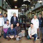 La EPET N°3 entregó máquina compactadora de aluminios a la Municipalidad