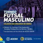 Acedo organiza Torneo de futsal masculino