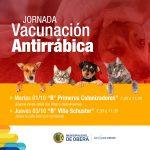 Vacunación antirrábica esta semana en barrios Primeros Colonizadores y Villa Schuster