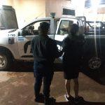 Detuvieron a una mujer que desobedeció restricción judicial y dañó el auto de su ex pareja
