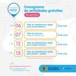 Cursos y talleres gratuitos en el Punto Digital