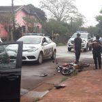 Siniestro vial dejó un motociclista lesionado