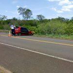 Automovilista resultó lesionado tras despistar en la ruta 103