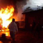 Un incendio consumió totalmente una vivienda en Oberá, no se registraron lesionados