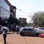 Siniestro Vial entre un automóvil y una motocicleta dejó un lesionado