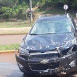 Despiste de un vehículo dejo sólo daños materiales