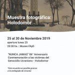 Muestra «Holodomor. Nunca Jamás» en el Museo de la FAyD