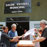 Inauguraron Salón Vecinal Municipal del barrio 100 Has