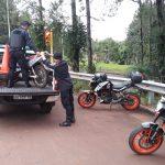 Tres  motocicletas retenidas y un detenido contraventor en operativos policiales