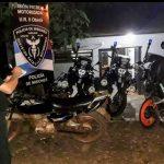 Operativo de prevención policial con recuperación de motocicletas y detención de personas
