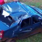 Despiste de un vehículo dejó 2 jóvenes lesionados
