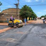 Asfalto en calle España