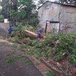 Asistencia a familias damnificadas por la tormenta