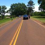 Siniestro vial en la ruta 5 dejó como saldo un motociclista lesionado