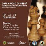 Oberá sede de un torneo internacional de ajedrez