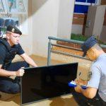 Recuperaron un televisor robado y buscan intensamente a los autores del hecho