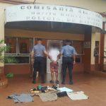 En pocas horas la Policía recuperó elementos robados y detuvo al autor del hecho