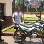 La Policía recuperó una motocicleta robada y busca intensamente al autor del ilícito