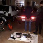 Gracias al rápido accionar de la Policía se recuperaron elementos robados y detuvieron al supuesto autor del hecho