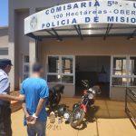 Lo sorprendieron desarmando dos motocicletas  robadas y fue detenido por la Policía