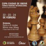"""Actividades en el marco del IRT Copa """"Ciudad de Oberá"""" 2020 de Ajedrez"""