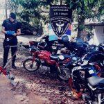 Policías recuperaron una moto y una bicicleta fija que fueron robadas