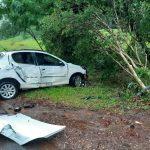 Siniestro vial con despiste dejó como resultado solo daños materiales