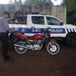 Policías recuperaron una motocicleta robada en Oberá