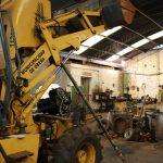 Trabajos en el Taller Mecánico municipal