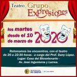 Inscripciones para el Grupo de Teatro Expresiones