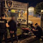 Mediante un rápido accionar la Policía recuperó una motocicleta robada y detuvo a un joven con un frondoso prontuario policial