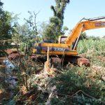 Limpieza y canalización del arroyo Mbotaby