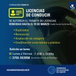 Renovación de Licencias de Conducir