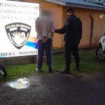 Recuperaron una motocicleta robada y el autor terminó detenido