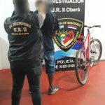La Policía recuperó una bicicleta robada y detuvo al presunto autor del hecho