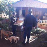 Policías sirvieron una merienda solidaria en Oberá