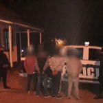 Cuatro jóvenes fueron detenidos por incumplir con la cuarentena