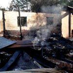 Investigan el incendio de una vivienda  y hallazgo de un cuerpo incinerado