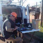La CELO está realizando nuevas conexiones de red de fibra óptica en el Bº Las Palmas