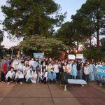 Importante movilización de médicos y trabajadores de la salud en Oberá