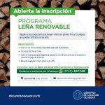 Inscripciones abiertas al programa Leña Renovable