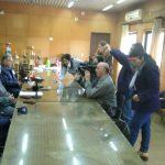 Conferencia de prensa sobre el corte de agua potable en la zona del B° 80 viviendas