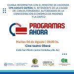 Encuentro informativo sobre los Programas provinciales Ahora