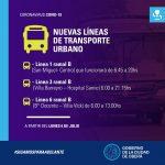 Nuevas líneas de transporte urbano de pasajeros
