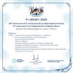 Programa para el acto del 9 de Julio