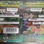 Pensionados reciben tickets para comprar en ferias francas