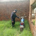 La policía recuperó una motocicleta robada